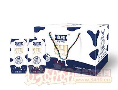 真纯纯牛奶250ml*10盒展示
