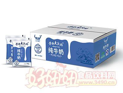 青海大牧场纯牛奶16包*190ml展示