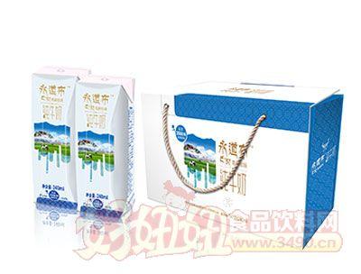 永道布纯牛奶12*240ml展示