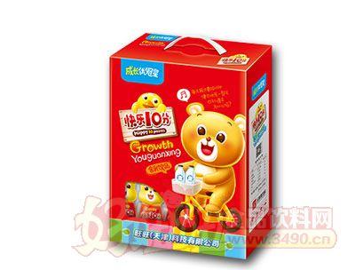 成长优冠星快乐10分含乳饮品200ml红色礼盒