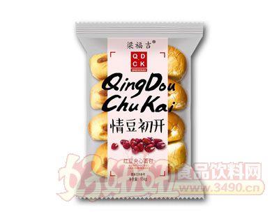 梁福吉红豆夹心面包136g