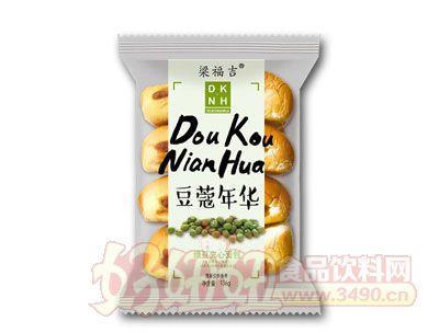 梁福吉绿豆夹心面包136g