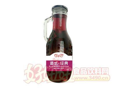 喜牵喜港式经典发酵蓝莓汁饮料1.5L