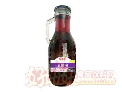 喜牵喜真果捞蓝莓菠萝复合果汁饮料1000ml