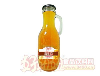喜牵喜真果捞金桔芒果复合果汁饮料1000ml