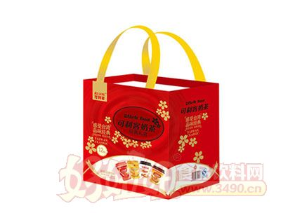 可利客奶茶经典礼盒手提袋