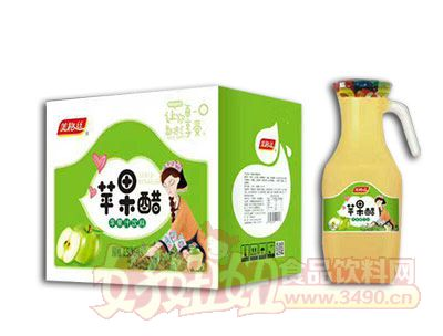美格丝苹果醋苹果汁饮料1.5L×6瓶
