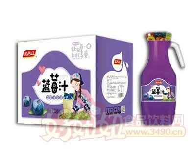 美格丝蓝莓汁饮料1.5L×6瓶箱装
