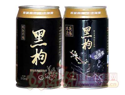 林盛果缘野生黑枸杞汁饮料310ml罐装