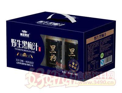 林盛果缘野生黑枸汁310ml×8罐开窗礼盒