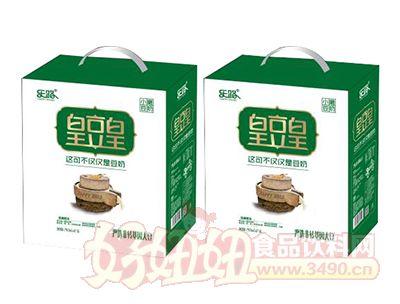 乐路皇豆皇小磨豆奶250ml×12盒