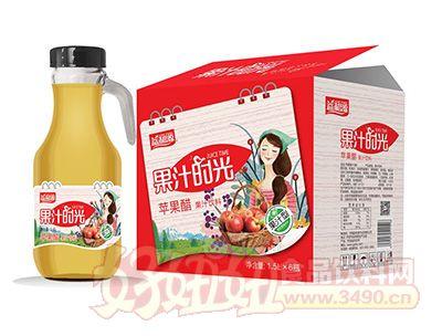 益和源果汁时光苹果醋1.5lx6瓶