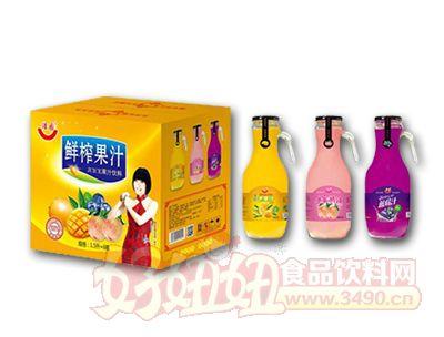 鲜榨果汁1.5L*6瓶玻璃瓶装
