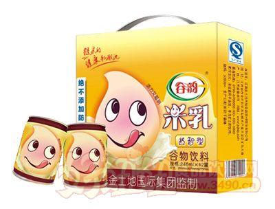 谷�益智型米乳罐�b箱246ml×12罐