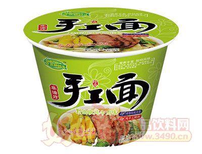 优粮码头手工面野山椒炖牛肉110g