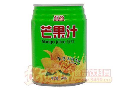 磊盈芒果汁饮料240ml