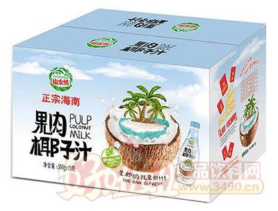 水情正宗海南果肉椰子汁植物蛋白饮料500mlx15瓶