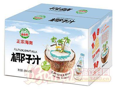 山水情正宗海南椰子汁植物蛋白饮料500mlx15瓶(新包装)