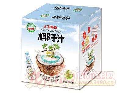 山水情正宗海南椰子汁植物蛋白饮料1.25Lx6瓶(新包装)