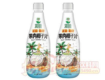 椰呦正宗海南果肉椰子汁植物蛋白饮料500g