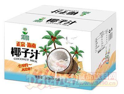 椰呦正宗海南椰子汁植物蛋白饮料500mlx15瓶