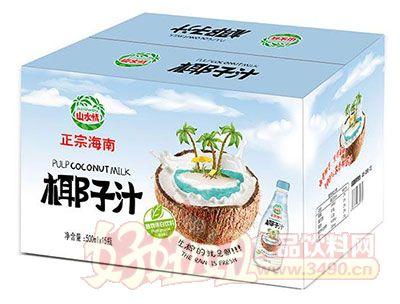 山水情正宗海南椰子汁植物蛋白饮料500mlx15瓶