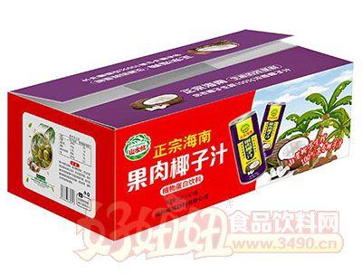 山水情正宗海南果肉椰子汁植物蛋白饮料245mlx24瓶