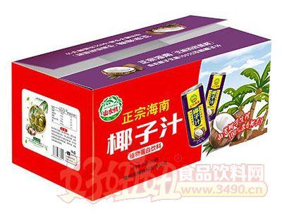 山水情正宗海南椰子汁植物蛋白饮料245mlx15瓶