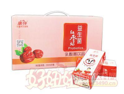 康伴益生菌红枣奶250mlx20瓶