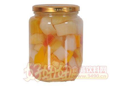 德盛恒750g什锦水果罐头反面