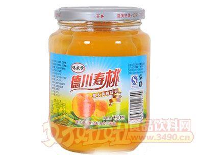 德盛恒750g新包装糖水桃罐头