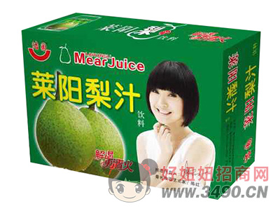 浩园莱阳梨汁饮料箱装