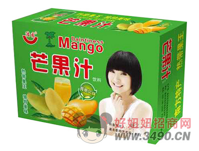 浩园芒果汁饮料箱装