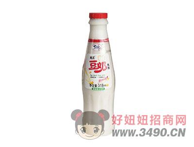 洛之洲有情郎纯正豆奶植物蛋白饮料瓶装318ml