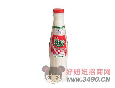 洛之洲有情郎红枣豆奶植物蛋白饮料瓶装318ml