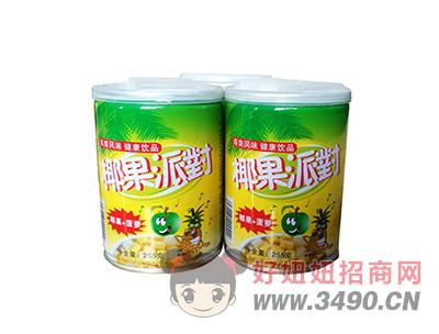 洛之洲椰果派对(椰果+菠萝)健康饮品255g