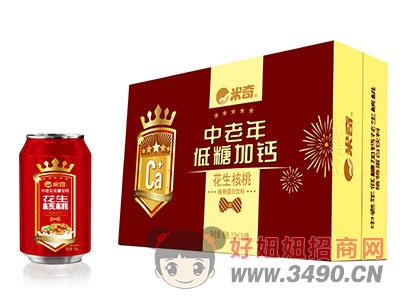 中老年低糖加钙花生核桃植物蛋白饮料310mlx16罐
