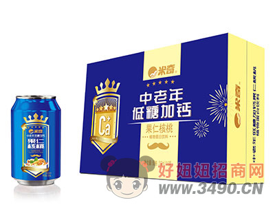 米奇中老年低糖加果仁核桃植物蛋白饮料310mlx16罐
