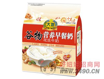 大地花生牛奶谷物营养早餐奶640g