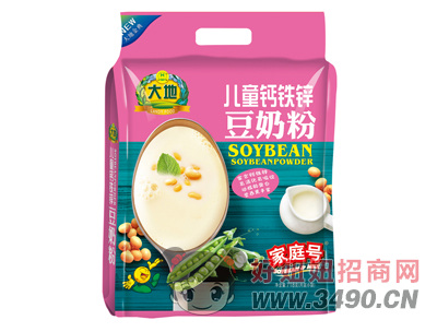 大地家庭号儿童钙铁锌豆奶粉718g