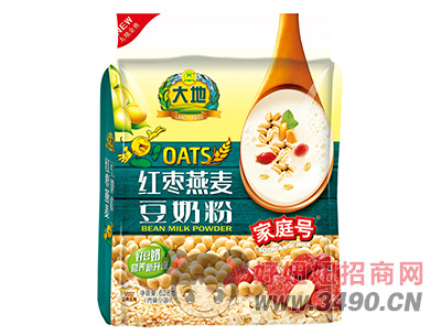 大地家庭号红枣燕麦豆奶粉628g