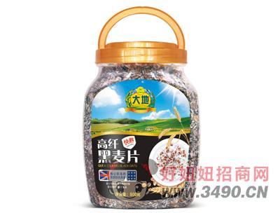 大地快熟高纤黑麦片800g