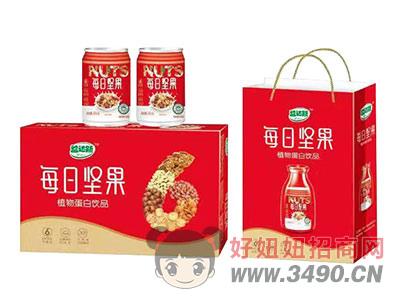每日坚果植物蛋白箱装礼盒饮品