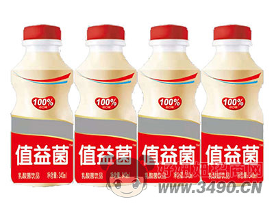 值益菌乳酸菌饮品340ml红