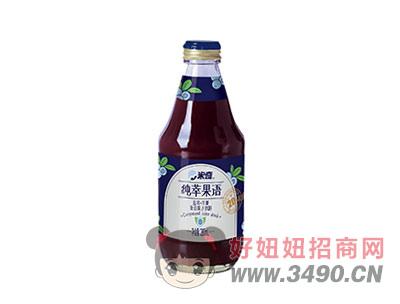 蓝莓苹果复合果汁饮料280ml×12瓶