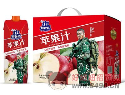 特种兵苹果汁茶饮料1L×6盒