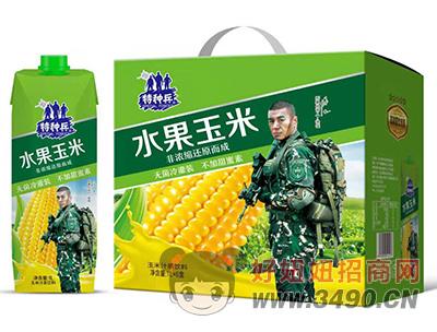 特种兵水果玉米汁茶饮料1L×6盒