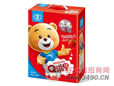 旺仔Q滋星草莓味儿童成长发酵型乳味饮品2kg礼盒