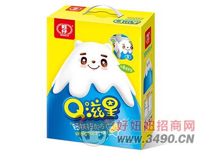 旺仔Q滋星芝士原味儿童成长发酵型乳味饮品2kg礼盒