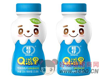 旺仔Q滋星芝士原味儿童成长发酵型乳味饮品100g
